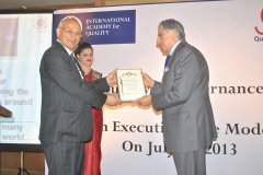 IAQ BQIG Medal to Mr. Ratan Tata 2013