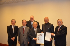Induction of Dr. Shoichiro Toyoda Honorary Chairman, Toyota Motors as IAQ Councilor 2015 Tokyo