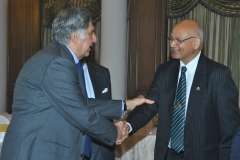 Receiving Mr. Ratan Tata for IAQ BQIG Medal Presentation 2013